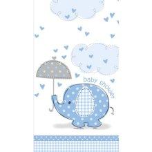 Unique Party Blue Tablecover - Umbrellaphants