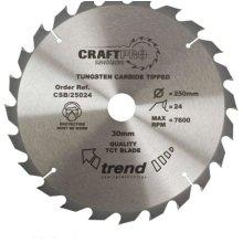 Trend CSB/25024 Saw blade 250mm x 24 teeth x 30mm