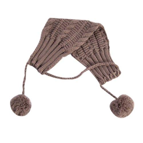 Comfortable Ear-wear Woolen Knitted Earmuffs Lovely Ear Warmer for Girl Black