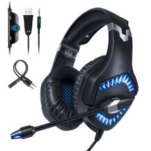 Gaming Headset PS4,Gamers Headphones with LED Noise Cancelling  Mic