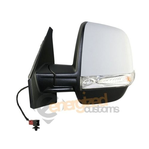 Fiat Doblo Mk2 2010-> Electric Primed Wing Mirror Twin Glass Passenger Side N/s