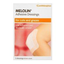 Melolin Adhesive Dressings 8.3cm x 6cm 5 dressings