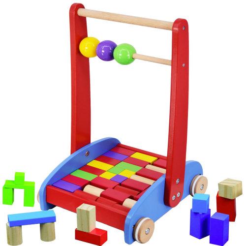 The Wooden Activity Block Cart