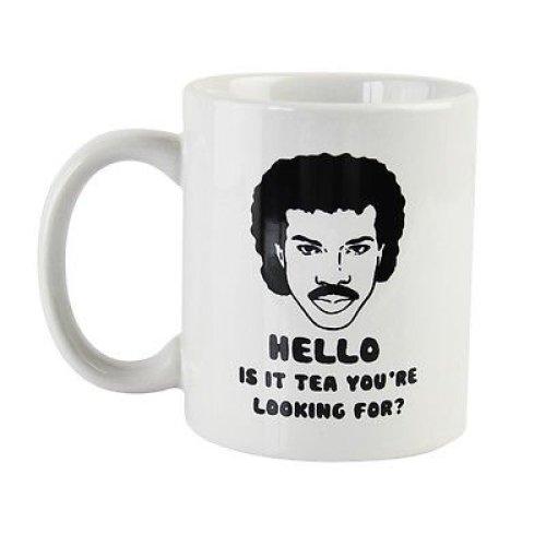 Lionel Richtea Mug | 'Hello Is It Tea You're Looking For' Ceramic Mug