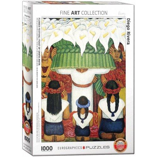 Eg60000798 - Eurographics Puzzle 1000 Pc - Diego Rivera - Flower Festival