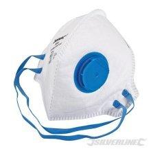 Silverline Ffp2 Nr Single Fold Flat Valved Face Mask - Dust Masks Protection -  ffp2 nr face valved fold flat silverline mask dust single masks