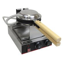 KuKoo Single Waffle Maker Commercial Catering Kitchen Non-Stick Plates