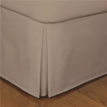 Fresh Ideas FRE23614MOCH05 14 in. Microfiber Bed Skirts  Mocha - Cal King