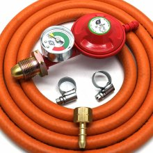 Igt Propane Gas Regulator With Gauge Replacement Hose Kit For Uk Cadac Lp Models