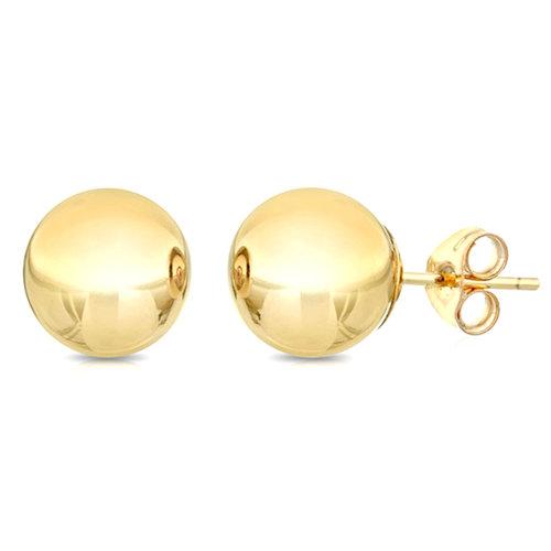 (8, Yellow) 14K Yellow Gold Ball Stud Earrings