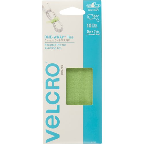 "Velcro(R) Brand One-Wrap(R) Ties 5""X14"" 10/Pkg-Leaf Green"