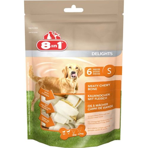 8in1 Dog Delights Rawhide Value Bag Sml (Pack of 4)