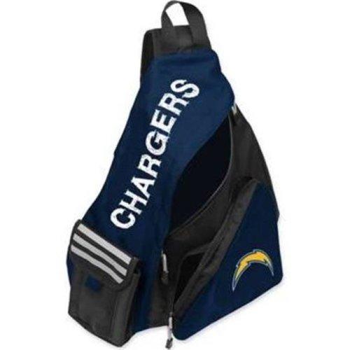 Northwest C11NFL-86C41-2079-RTL 20 x 12 in. NFL - Los Angeles Chargers Leadoff Sling Backpack, Navy & Black