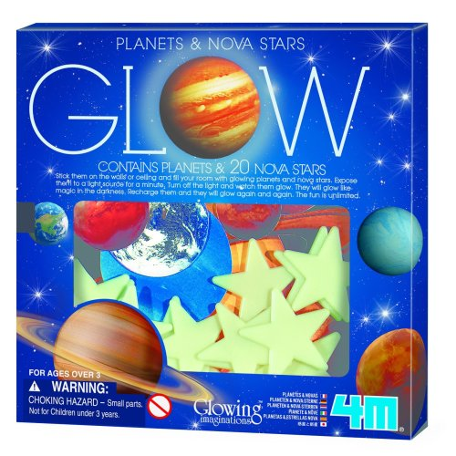 Glow in the Dark Planets and Nova Stars 20pcs - 4M