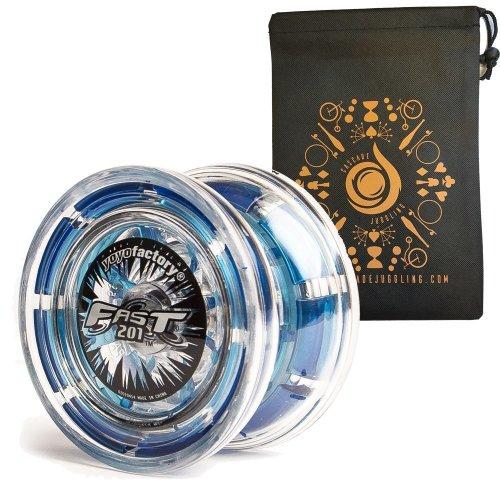 Blue YoYoFactory Yo-008/Fast 201/ Professional Yoyo with Patented System