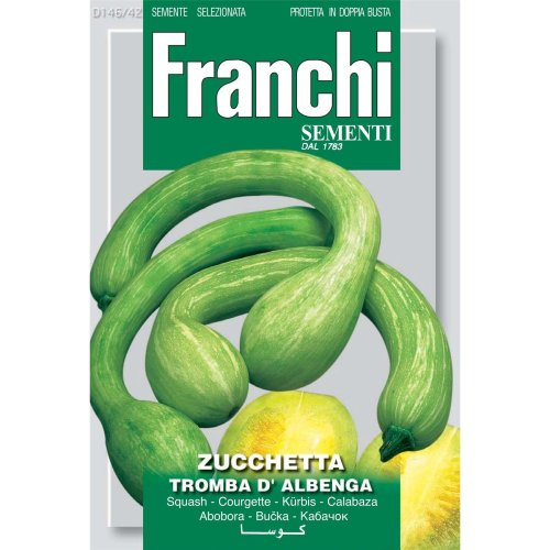 Franchi Seeds of Italy - DBO 146/42 - Courgette - Tromba D'Albenga - Seeds