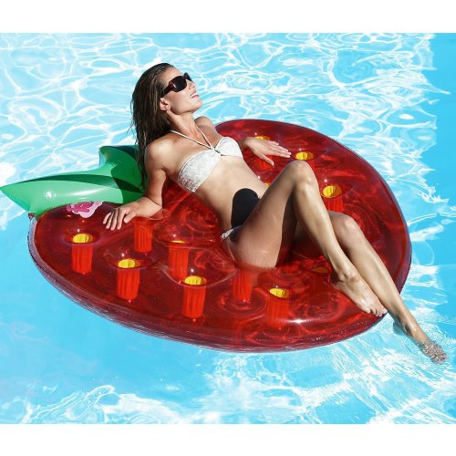Inflatable Strawberry Float Lounger