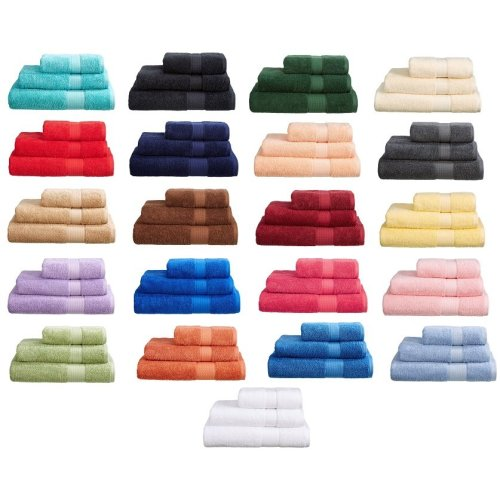 100% Turkish Cotton 4 Piece Towel Bale Set 500 Gsm - 2 Hand Towel + 2 Bath Towels