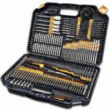 Terratek 246pc Combination Drill Bit Set   HSS Titanium Twist Drill Bits, Masonry Drill Bits, Wood Drill Bits & Screwdriver Bits