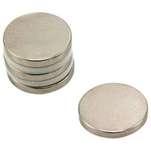 Magnet Expert® 20mm dia x 3mm thick N42 Neodymium Magnet - 4.6kg Pull ( Pack of 4 )