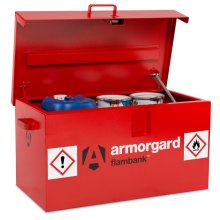 Armorgard FlamBank Flammable Liquids Safe Storage Van Vault Box 980x540x475mm