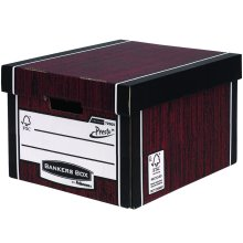 Bankers Box Premium 725 Classic Storage Box - Woodgrain, Pack of 10