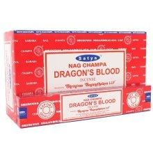 Box of 12 Packs of Dragon's Blood Incense Sticks by Satya