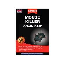 Rentokil PSM22 Mouse Killer Grain Bait, Black, 4.2 x 10.5 x 14.5 cm