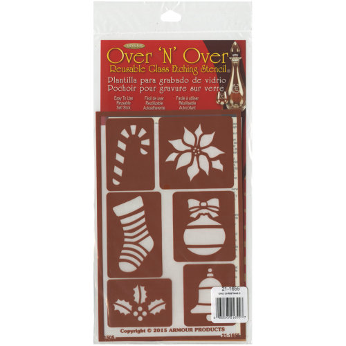 "Over 'N' Over Reusable Stencils 5""X8""-Christmas 2"