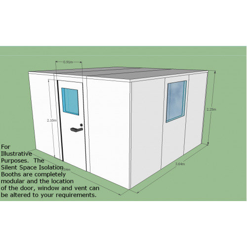 Silent Space Isolation Booth 3.6m by 3.6m