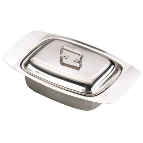Butter Dish With Cover Stainless Steel Dairy Storage Keeper
