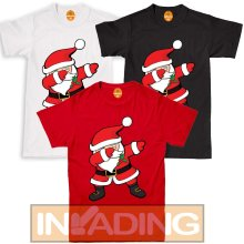 Santa Claus Dancing Dabbing Christmas T-shirt