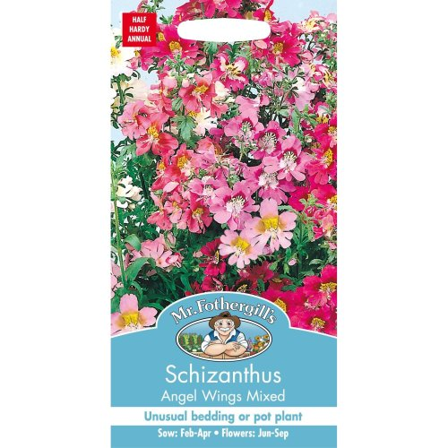 Mr Fothergills - Pictorial Packet - Flower - Schizanthus Angels Wings Mixed - 350 Seeds