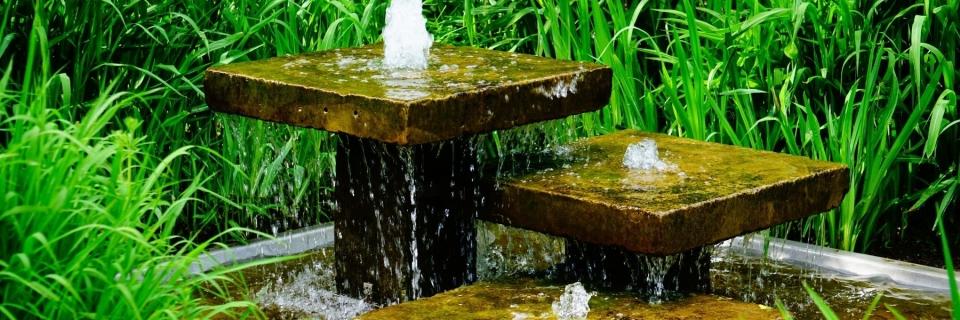 garden water fall fountain