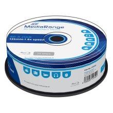 MediaRange BD-R 25GB Recordable Blu-Ray (BD-R)–Pack of 25