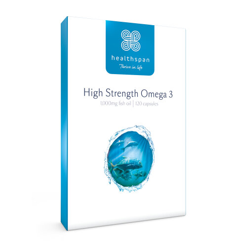 (120 Capsules) High Strength Omega 3 1000mg | Healthspan