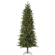 Carolina Pencil Spruce Christmas Tree with Clear Lights, 7.5 ft. x 38 in.