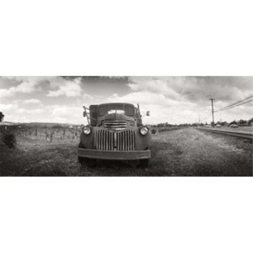 Old truck in a field  Napa Valley  California  USA Poster Print by  - 36 x 12