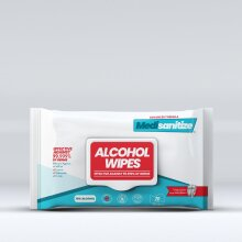 Antibacterial 70% Alcohol Wipes for Hand Sanitising and Surfaces, 70Pk