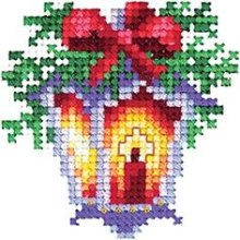 Andriana Counted Cross Stitch Kit - Lantern  - Plastic Canvas - H-20 - Christmas Decoration