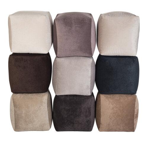 Cube Bean Bag Foot Rest Stool Pouffe Soft Touch