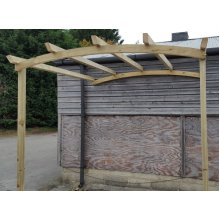 Arched Top Lean To Pergola - UP TO 8 WEEK WAIT
