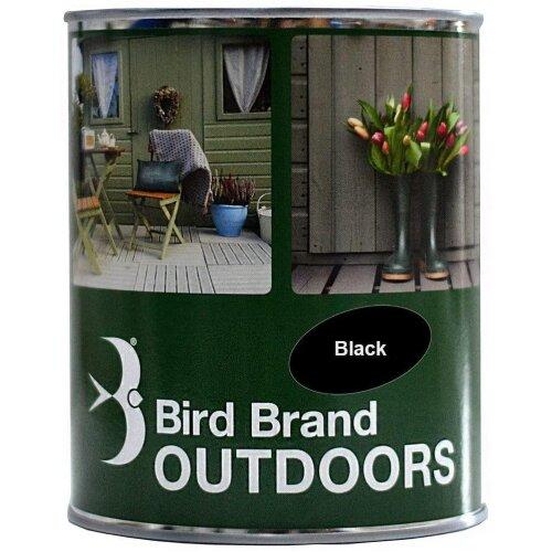 (Black, 1 LTR) Bird Brand Outdoor Garden Paint Satin Finish