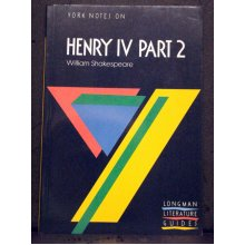 York Notes On Henry IV Part 2 By William Shakespeare - Used