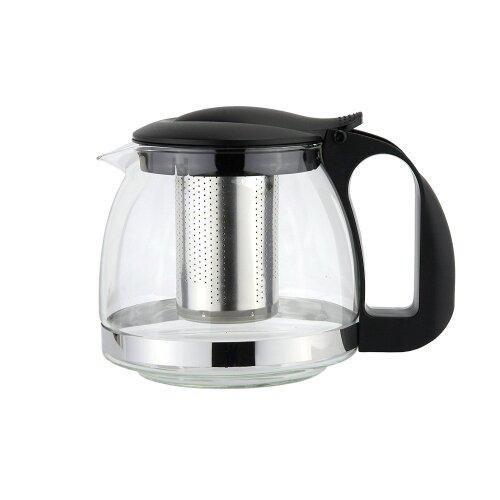 1100ml Stainless Steel Heat Resistant Glass Teapot Infuser Flower Tea Leaf Maker