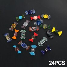 24 pcs Glass Sweets Vintage Xmas Party Wedding Candy Decor Gift New