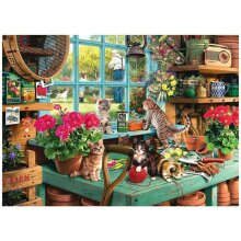 Cute Cats Pattern 1000 Piece Jigsaw Puzzles For Adults Kids Learning Education