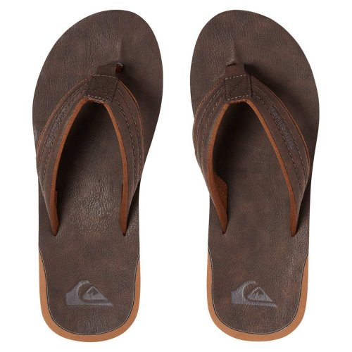 (UK 12) Quiksilver Carver Nubuck Sandals - Demitasse
