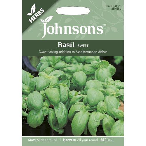 Johnsons Seeds - Pictorial Pack - Herb - Basil Sweet - 500 Seeds