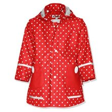 Playshoes Girl's Points Raincoat, Red, 9-12 months (80)
